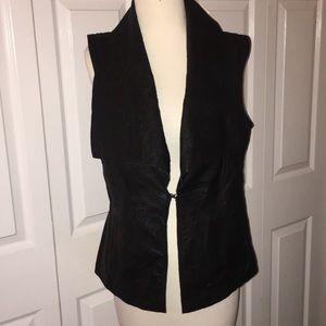 Bebe Sexy Black Leather Vest